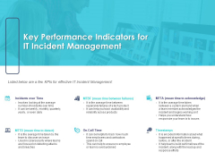 Managing ITIL Incidents Planning Key Performance Indicators For IT Incident Management Diagrams PDF