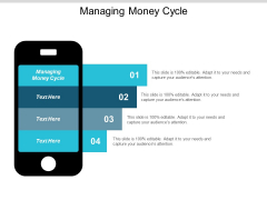 Managing Money Cycle Ppt Powerpoint Presentation Portfolio Model Cpb