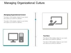 Managing Organizational Culture Ppt PowerPoint Presentation Professional Icon Cpb