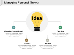 Managing Personal Growth Ppt PowerPoint Presentation Ideas Visuals Cpb