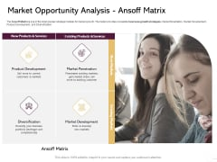 Managing Portfolio Growth Options Market Opportunity Analysis Ansoff Matrix Ideas PDF