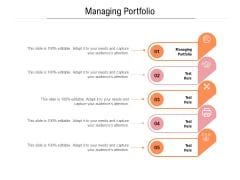 Managing Portfolio Ppt PowerPoint Presentation Portfolio Clipart Cpb Pdf