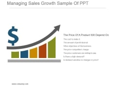 Managing Sales Growth Sample Of Ppt