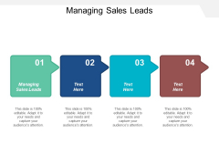 Managing Sales Leads Ppt Powerpoint Presentation Ideas Background Images Cpb
