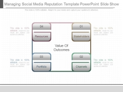 Managing Social Media Reputation Template Powerpoint Slide Show