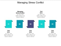 Managing Stress Conflict Ppt PowerPoint Presentation Model Clipart Cpb