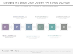 Managing The Supply Chain Diagram Ppt Sample Download