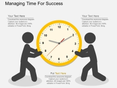 Managing Time For Success Powerpoint Templates