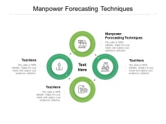 Manpower Forecasting Techniques Ppt PowerPoint Presentation Layouts Guidelines Cpb