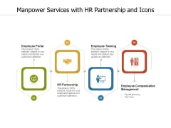 Manpower Services With HR Partnership And Icons Ppt PowerPoint Presentation Gallery Background PDF