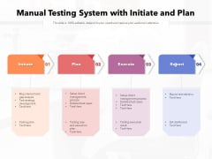 Manual Testing System With Initiate And Plan Ppt PowerPoint Presentation Infographic Template Show PDF