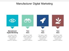 Manufacturer Digital Marketing Ppt PowerPoint Presentation File Visual Aids Cpb