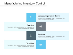 Manufacturing Inventory Control Ppt PowerPoint Presentation Icon Display Cpb