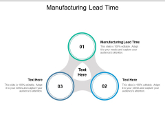Manufacturing Lead Time Ppt PowerPoint Presentation Summary Visual Aids Cpb