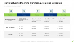 Manufacturing Machine Functional Training Schedule Infographics PDF