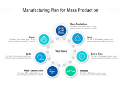 Manufacturing Plan For Mass Production Ppt PowerPoint Presentation Gallery Graphics Download PDF