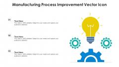 Manufacturing Process Improvement Vector Icon Ppt Portfolio Ideas PDF