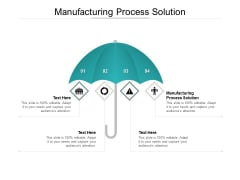 Manufacturing Process Solution Ppt PowerPoint Presentation Inspiration Cpb Pdf