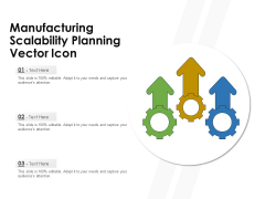 Manufacturing Scalability Planning Vector Icon Ppt PowerPoint Presentation Styles Show PDF