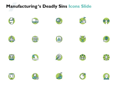 Manufacturings Deadly Sins Icons Slide Arrow Target Ppt PowerPoint Presentation Influencers