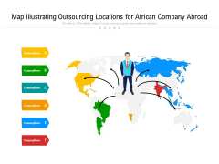Map Illustrating Outsourcing Locations For African Company Abroad Ppt PowerPoint Presentation Gallery Microsoft PDF