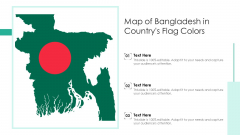 Map Of Bangladesh In Countrys Flag Colors Ppt PowerPoint Presentation Gallery Example File PDF