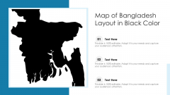 Map Of Bangladesh Layout In Black Color Ppt PowerPoint Presentation Gallery Rules PDF