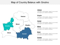 Map Of Country Belarus With Grodno Ppt PowerPoint Presentation Model Backgrounds