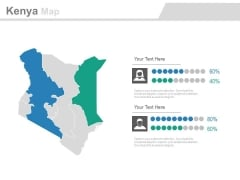 Map Of Kenya With Gender Population Analysis Powerpoint Slides