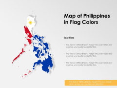 Map Of Philippines In Flag Colors Ppt PowerPoint Presentation Show Sample PDF