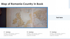 Map Of Romania Country In Book Ppt PowerPoint Presentation Gallery Skills PDF
