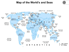 Map Of The Worlds And Seas Ppt PowerPoint Presentation File Slide Download PDF