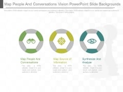 Map People And Conversations Vision Power Point Slide Backgrounds