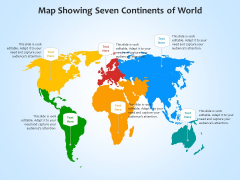 Map Showing Seven Continents Of World Ppt PowerPoint Presentation Gallery Display PDF