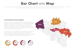 Map With Years And Percentage Charts Powerpoint Slides