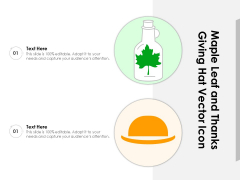 Maple Leaf And Thanks Giving Hat Vector Icon Ppt PowerPoint Presentation File Layouts PDF