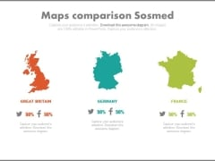 Maps For Great Britain Germany And France Powerpoint Slides