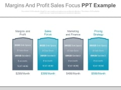 Margins And Profit Sales Focus Ppt Example