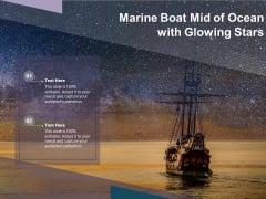 Marine Boat Mid Of Ocean With Glowing Stars Ppt PowerPoint Presentation Portfolio Clipart Images PDF