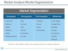 Market Analysis Market Segmentation Ppt PowerPoint Presentation Icon Graphic Tips