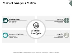 Market Analysis Matrix Ppt PowerPoint Presentation Model Layouts