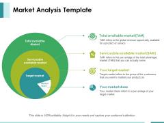 Market Analysis Template Ppt PowerPoint Presentation Slides Master Slide