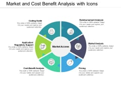 Market And Cost Benefit Analysis With Icons Ppt PowerPoint Presentation Show Format