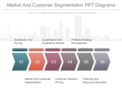 Market And Customer Segmentation Ppt Diagrams