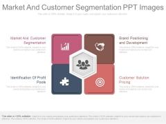 Market And Customer Segmentation Ppt Images