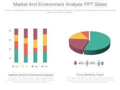 Market And Environment Analysis Ppt Slides