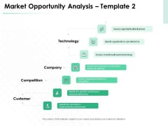 Market Approach To Business Valuation Introduction Market Opportunity Analysis Technology Clipart PDF