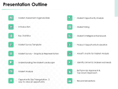 Market Approach To Business Valuation Presentation Outline Topics PDF