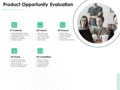 Market Approach To Business Valuation Product Opportunity Evaluation Professional PDF