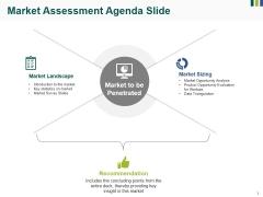 Market Assessment Agenda Slide Ppt PowerPoint Presentation Show Brochure